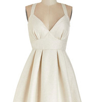 ModCloth Short Length Sleeveless A-line Are You Gonna Be My Pearl? Dress