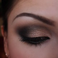 Make-up Artist Me!: Black and Shimmery nude smokey eye, part 1 and 2