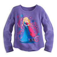 Anna and Elsa Long Sleeve Thermal Tee for Girls - Frozen