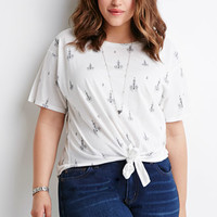 Knotted Chandelier Print Tee