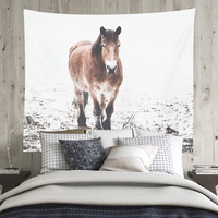 Wall Tapestry With A Beautifu Horse Photography Print, Fine Art, Horse Tapestry, Wall Decor, Large Wall Art, Home Decor, Gifts For Her, Art