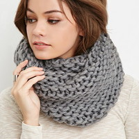 Purl Knit Infinity Scarf