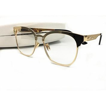 Versace VE1235 Eyeglasses 53-17-140 Black Pale Gold 1371 VE 1235