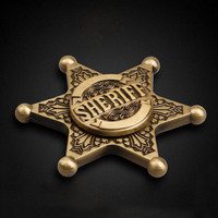 Hot sales toys Sheriff Pattern Hand Spinners Fidget Spinner Long time