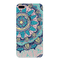 Blue Sunflower Stone iPhone 7 7Plus & iPhone se 5s 6 6 Plus Case Cover +Gift Box-91
