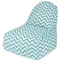 Teal Chevron Kick-It Chair