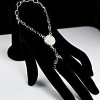 Ring Bracelet Gatsby Inspired Sterling Silver and Drusy Quartz