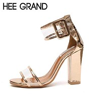 HEE GRAND 2018 Women's High Heel Sandals Women Spring Summer Shoes Fashion Dancing Sandals Sexy Party Wedding Shoes XWZ4769 Macchar Cosplay Catalogue