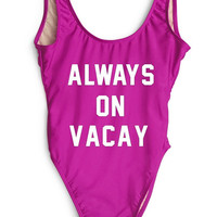 Private Party 2016 || Always on Vacay one piece in pink