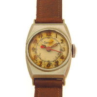 Vintage Ingersoll Military Style Watch ca 1940's