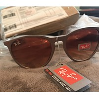 Ray Ban Erika Polarized Brown Gradient Round Sunglasses RB3539 112/T5 54