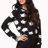 Cropped Cat Sweater