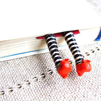 Wicked witch bookmark. Wicked witch of the East Bookmark. Red Shoes Bookmark. Inspired by the Wizard of OZ. Halloween decoration