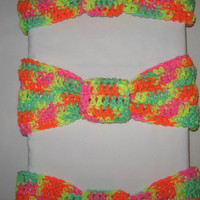 Colorful Neon Knotted Headband For spring, summer nights colorful