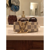 Mens Louis Vuitton Damier Azur white size .Size 80/32 Belt.