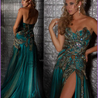 2013 Peacock Applique Pageant Gown Evening Party Prom Bridal Dress size US 4-16