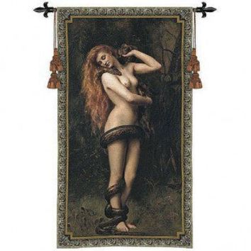 Fine Art Tapestries Lilith Tapestry - John Collier - 3071-WH - Decor