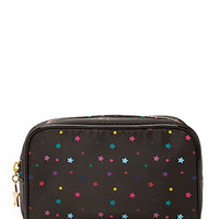 FOREVER 21 Star Print Makeup Pouch Black/Multi One