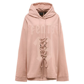 Long Sleeve Graphic Front Lacing Hoody, buy it @ www.puma.com