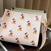 GUCCI x DISNEY Graffiti Letter Print Women's Clutch Wash Bag