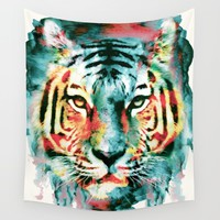 TIGER Wall Tapestry by RIZA PEKER