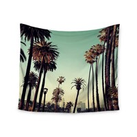 """Palm Paths"" Take A Stroll Trendy Boho Wall Tapestry"