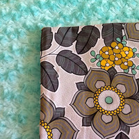 Adult Size Minky Blanket, Throw, Lap Quilt Teal, Turquoise, Gray, Yellow