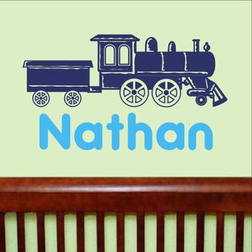 Train With Name Vinyl Wall Decal 22263
