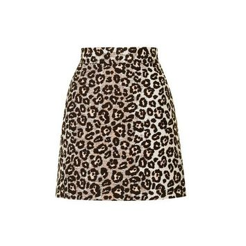 TopShop Ombre Animal a-Line Skirt
