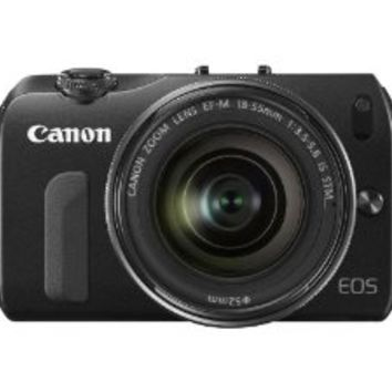 Canon EOS M Compact System Camera - Black (18MP, Includes Speedlite 90EX and EF-M 18-55mm f/3.5-5.6 IS STM) 3.0 inch Touchscreen