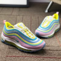 Nike Air Max 97 GS Rainbow Stripe Line Women Sneakers Sports Shoes B-CSXY Colorful Line