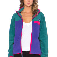 Patagonia Full Zip Snap T Jacket in Concord Purple