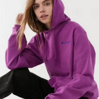 Champion Fashion Casual Embroider Logo Long Sleeve Hoodie Sweater Purple G