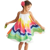 Summer Dress For Girls Rainbow Dress For Girls