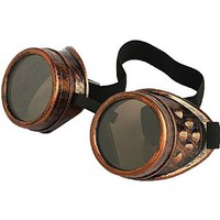 Leegoal New Sell Vintage Steampunk Goggles Glasses Welding Cyber Punk Gothic (Copper)