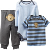 Child of Mine by Carter's Newborn Boy Cotton Outfit 3-Piece Set - Walmart.com