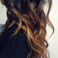 "22"" Caramel Ombre Clip In Hair Extension"