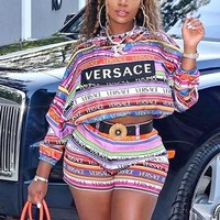 Versace 2019 new women's fashion versatile two-piece suit