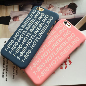 For IPhone 6 6S 6Plus 6sPlus Cases Crying Drake Hotline Bling Phone Case Cover Hard PC Scrub Fundas