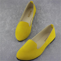 Big Size Women Flats Candy Color Shoes Woman Loafers Summer Fashion Sweet Flat Casual Shoes Women Zapatos Mujer Plus Size 35-43