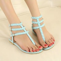 Candy Color Sandals with Cute Studs for Women BTR623