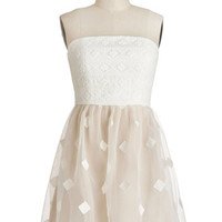 ModCloth Short Strapless A-line Beguiling Belle Dress