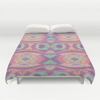 Abstract pastel Peacock pattern Duvet Cover by ArtLovePassion