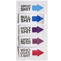 Funny Get The Hint S#@t List Tags Office Supplies Labels Sticky Notes