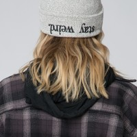 STAY WEIRD EMBROIDERY BEANIE
