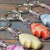 Tiny Fish Stitch Markers & Beaded Holder