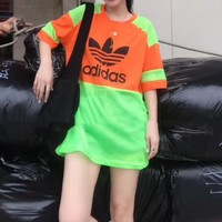 """Adidas""Fashion Casual Pattern Letter Print Round Neck Short Sleeve T-shirt"
