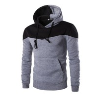 Men's Fitted  Patchwork Hoodies