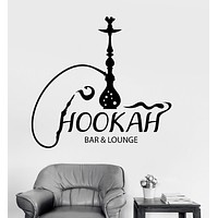 Vinyl Wall Decal Hookah Bar Lounge Shisha Arabic Smoking Cafe Stickers Unique Gift (ig3586)