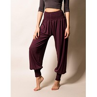 Bamboo Taj Pants - Fig - Large Only